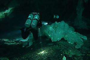 Entering Grande Cenote