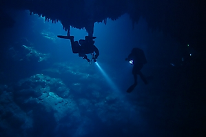 Near the bottom of The Pit at 32m