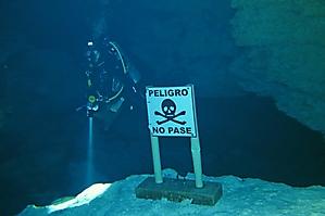 The cavern limit marker